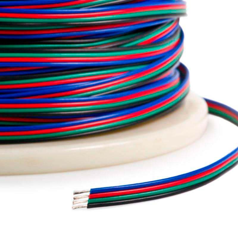 Cable de conexión para tiras LED RGB 4x0,75mm, 1 metro
